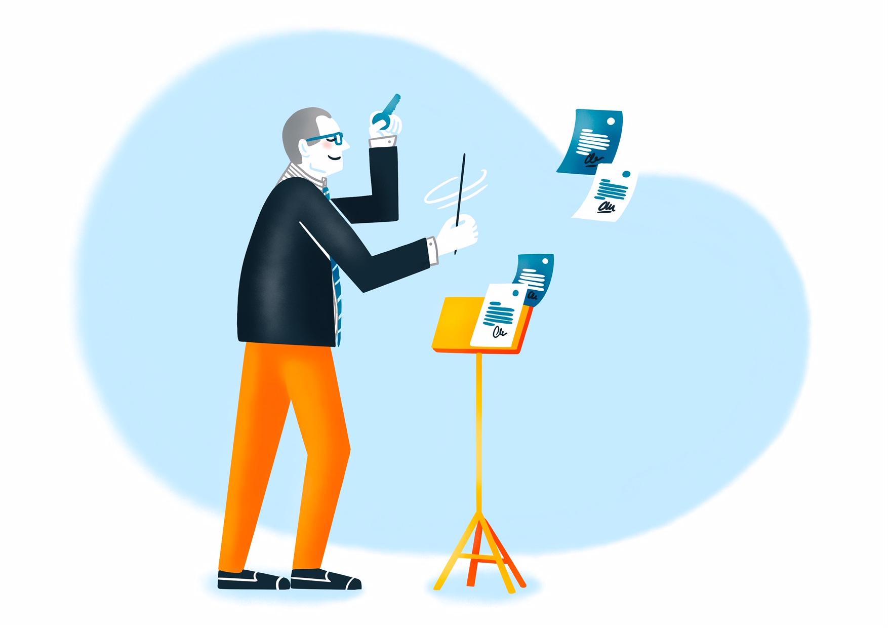 Illustration : le chef d'orchestre de votre projet de défiscalisation immo.